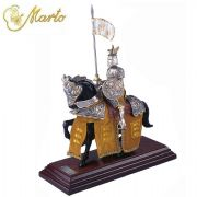 Miniature French Parade Knigh Of King Richard On Horseback